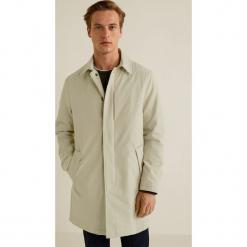 Mango Man - Płaszcz Kintosh. Brązowe płaszcze na zamek męskie marki Cropp, na zimę, l, sportowe. Za 399,90 zł.