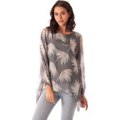 Bluzki asymetryczne: Koszulka w kolorze antracytowym