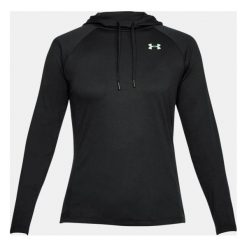 Bluzy damskie: Under Armour Bluza damska Tech LS Hood 2.0 - Solid czarna r. S (1311502-001)
