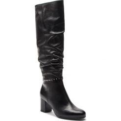 Kozaki ANN MEX - 8998 01S Czarny. Czarne buty zimowe damskie Ann Mex, ze skóry, przed kolano, na wysokim obcasie. Za 439,00 zł.