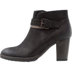 Caprice Ankle boot black. Czarne botki damskie Caprice, z materiału. Za 369,00 zł.