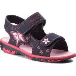 Sandały dziewczęce: Sandały KAPPA – Blossom K 260593K Navy/Pink 6722