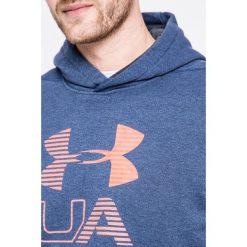 Under Armour - Bluza. Szare bluzy męskie rozpinane Under Armour, l, z nadrukiem, z bawełny, z kapturem. W wyprzedaży za 179,90 zł.