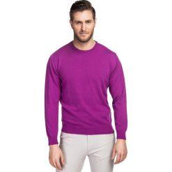 Sweter AGENORE SWFR000206. Fioletowe swetry klasyczne męskie marki Reserved, l, z bawełny. Za 199,00 zł.