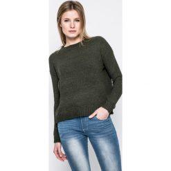Answear - Sweter. Szare swetry klasyczne damskie ANSWEAR, l, z dzianiny, z okrągłym kołnierzem. W wyprzedaży za 49,90 zł.