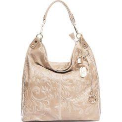 Torebki klasyczne damskie: Skórzana torebka w kolorze szarobrązowym – 35 x 37 x 15 cm