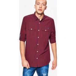 Koszula w drobną kratkę BASIC - Granatowy. Niebieskie koszule męskie w kratę marki Cropp, l. Za 69,99 zł.