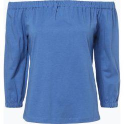 Tommy Hilfiger - Koszulka damska, niebieski. Niebieskie t-shirty damskie TOMMY HILFIGER, m, z dżerseju, z kołnierzem typu carmen. Za 199,95 zł.