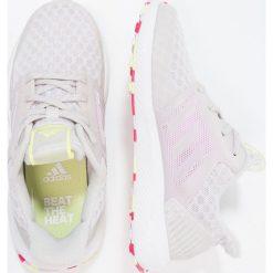 Adidas Performance RAPIDARUN COOL  Obuwie do biegania treningowe grey one/aero pink/semi frozen yellow. Brązowe buty sportowe dziewczęce marki adidas Performance, z gumy. Za 249,00 zł.