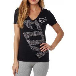 T-shirty damskie: FOX T-Shirt Damski Angled V Neck Ss Tee Xs Czarny