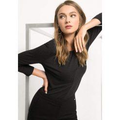 Koszulka w drobne kropki. Czarne bluzki longsleeves marki Orsay, xs, w kropki, z dzianiny, z okrągłym kołnierzem. Za 69,99 zł.