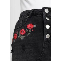 Minispódniczki: Miss Selfridge Petite EMBROIDERED SKIRT Spódnica trapezowa black