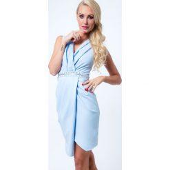Sukienka z suwakiem jasnoniebieska G5022. Niebieskie sukienki Fasardi, m. Za 99,00 zł.