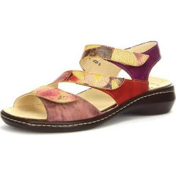 """Rzymianki damskie: Skórzane sandały """"Camilla"""" w kolorze czerwono-fioletowym"""