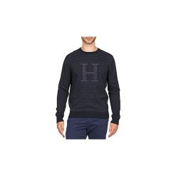 Swetry Tommy Hilfiger  BOB STP C-NK CF. Czarne swetry klasyczne męskie marki TOMMY HILFIGER, l, z dzianiny. Za 512,85 zł.