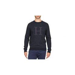 Swetry Tommy Hilfiger  BOB STP C-NK CF. Niebieskie swetry klasyczne męskie TOMMY HILFIGER, m. Za 512,85 zł.