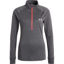 Under Armour TECH  Koszulka sportowa carbon heather. Szare topy sportowe damskie marki Under Armour, xl, z materiału, z długim rękawem. W wyprzedaży za 135,20 zł.
