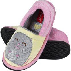 Soxo - Kapcie dziecięce. Szare kapcie dziewczęce marki Soxo, z gumy, z okrągłym noskiem. Za 49,99 zł.