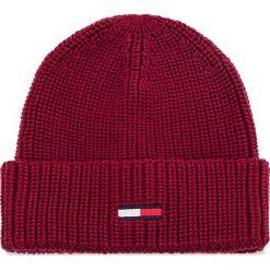 Czapka TOMMY JEANS - Tju Basic Rib Beanie AU0AU00300 652. Czerwone czapki zimowe damskie marki Tommy Jeans, z bawełny. Za 129,00 zł.