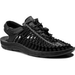 Sandały KEEN - Uneek Leather 1017060 Black/Raven. Czarne sandały męskie skórzane Keen. Za 449,90 zł.