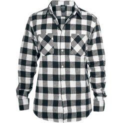 Urban Classics Koszula flanelowa w kratę Koszula czarny/biały. Czarne koszule męskie na spinki marki Urban Classics, s, z materiału, z koszulowym kołnierzykiem, z długim rękawem. Za 144,90 zł.