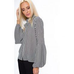 Koszula w paski biało-czarna MP26008. Białe koszule wiązane damskie Fasardi, l, w paski. Za 44,00 zł.