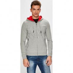 Guess Jeans - Bluza. Szare bluzy męskie rozpinane marki Guess Jeans, l, z aplikacjami, z bawełny. Za 399,90 zł.