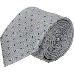 Krawaty męskie: krawat platinum szary classic 208