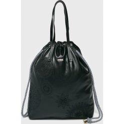 Desigual - Torebka. Szare torebki klasyczne damskie Desigual, z materiału, duże. Za 349,90 zł.