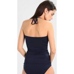 MICHAEL Michael Kors LOGO RING SHIRRED BANDINI Góra od bikini new navy. Niebieskie bikini MICHAEL Michael Kors. Za 419,00 zł.