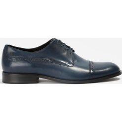 Półbuty granatowe. Niebieskie buty wizytowe męskie Badura. Za 159,99 zł.