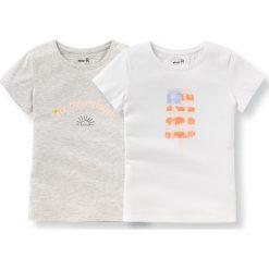 Bluzki dziewczęce bawełniane: Koszulka z nadrukiem 3-12 lat (komplet 2 szt.)