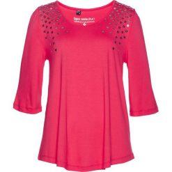 Tunika z cekinami bonprix różowy hibiskus. Czerwone tuniki damskie bonprix, z aplikacjami. Za 74,99 zł.