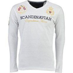 """T-shirty męskie z nadrukiem: Koszulka """"Jevin"""" w kolorze białym"""