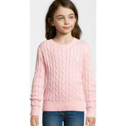 Polo Ralph Lauren CLASSIC Sweter powder pink. Czerwone swetry klasyczne damskie Polo Ralph Lauren, z bawełny, polo. W wyprzedaży za 263,20 zł.