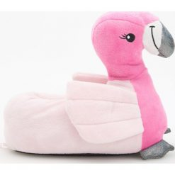 Kapcie damskie: Kapcie w kształcie flamingów – Różowy