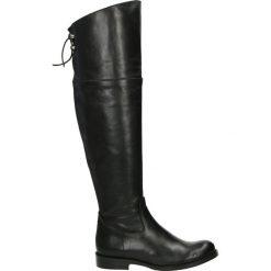 Kozaki - FIONA-D-321 N. Czarne buty zimowe damskie marki Venezia, z materiału, na obcasie. Za 699,00 zł.