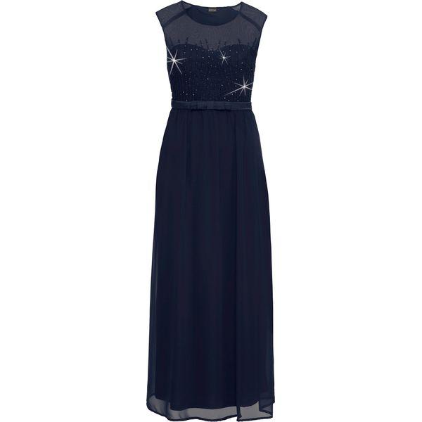 f9b2eca568 Sukienka wieczorowa z cekinami bonprix ciemnoniebieski - Niebieskie ...