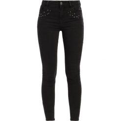 Dorothy Perkins BAILEY Jeans Skinny Fit black. Czarne jeansy damskie marki Dorothy Perkins. W wyprzedaży za 134,25 zł.