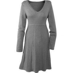 Sukienki: Sukienka dzianinowa bonprix szary melanż