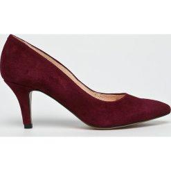 Wojas - Czółenka. Szare buty ślubne damskie marki Wojas, z materiału, na obcasie. W wyprzedaży za 259,90 zł.