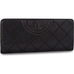 Duży Portfel Damski TORY BURCH - Fleming Distressed Slim Envelope Wallet 50272 Black 001. Czarne portfele damskie Tory Burch, ze skóry. Za 829,00 zł.