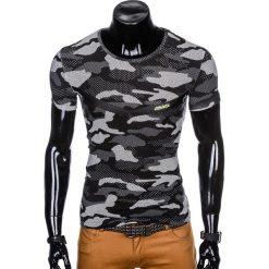T-SHIRT MĘSKI Z NADRUKIEM MORO S949 - CZARNY. Zielone t-shirty męskie z nadrukiem marki Ombre Clothing, na zimę, m, z bawełny, z kapturem. Za 35,00 zł.