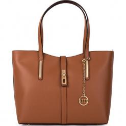 Skórzana torebka w kolorze brązowym - 35 x 28 x 14 cm. Brązowe torebki klasyczne damskie Mia Tomazzi, z materiału. W wyprzedaży za 409,95 zł.