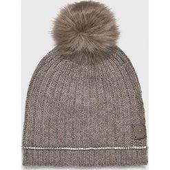 Liu Jo - Czapka. Szare czapki zimowe damskie Liu Jo, na zimę, z dzianiny. Za 269,90 zł.