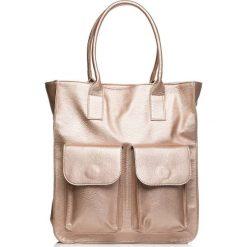 Pojemna Torba Model 1 Typu Shopper. Brązowe shopper bag damskie Molly.pl, duże. Za 144,90 zł.