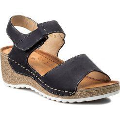 Rzymianki damskie: Sandały WASAK – 0474 Granat Nubuk