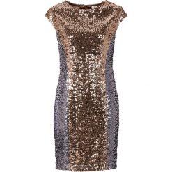 Sukienki: Sukienka z cekinami bonprix czarno-cielisty