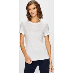 Guess Jeans - Top. Szare topy damskie Guess Jeans, l, z aplikacjami, z bawełny. Za 189,90 zł.