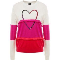 PS by Paul Smith Sweter white/pink/red. Białe swetry klasyczne damskie PS by Paul Smith, s, z materiału. Za 1029,00 zł.